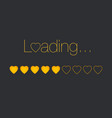 loading heart bar vector image vector image