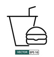 meal icon symbol flat design isolated on white vector image