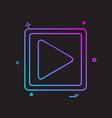 media music play icon design vector image