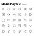 media player ui icon set vector image