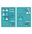 medical brochure for hospital personnel doctors vector image vector image