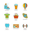 minimal lineart flat shopping iconset vector image vector image
