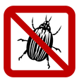 No bug sign vector image vector image