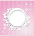 Paper flowers with ring vector image vector image