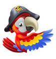parrot pirate pointing vector image