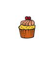 pop art style cake sticker vector image vector image
