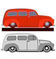 red vintage car vector image
