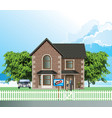 residential detached house with sold sign vector image vector image