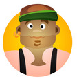 round sticker with an african man in bandanas vector image vector image