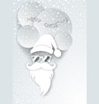santa claus fashion in white paper cutting style vector image vector image