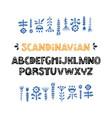 scandinavian font vector image vector image