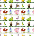 Seamless different type of insects vector image vector image
