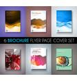 Set of 6 Brochures templates Flyer Designs or vector image vector image