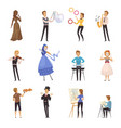 street artists isolated cartoon icons vector image vector image