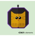 Tabby cat in pet carrier vector image vector image