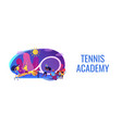 tennis camp concept banner header vector image