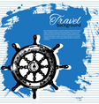 Travel vintage background vector image vector image