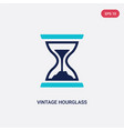 two color vintage hourglass icon from general vector image