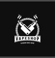 vape shop vintage hipster retro logo vector image