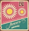 Vintage florist shop sign vector image
