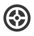 wheel car direction icon vector image