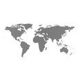 world map covering globe isolated on white vector image vector image