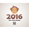 year monkey vector image vector image