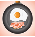eggs and bacon vector image
