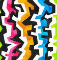 grunge bright graffiti seamless pattern vector image