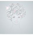 gears girl vector image