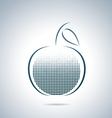 Digital apple vector image