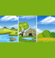 a green nature landscape vector image
