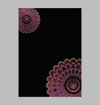 Abstract floral mandala page background - love vector image