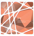 abstract network frame with triangular background vector image