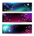 Banners with Bright Stars vector image