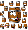 barrel cartoon vector image vector image