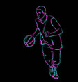 basketball player playing vector image
