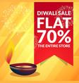 beautiful diwali sale discount promotional banner vector image