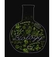 Biology Lettering vector image vector image