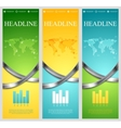 Bright abstract tech vertical banners with metal vector image