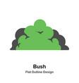 bush outline flat vector image vector image