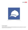 cap icon - blue photo frame vector image
