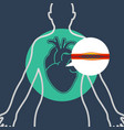 cardiac catheterization logo icon design vector image vector image