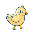 charming yellow graphic duckling vector image