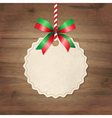 Christmas Label With Ribbon vector image vector image