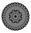 Circle Lace Ornament vector image vector image