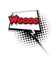 Comic text woo sound effects pop art vector image vector image