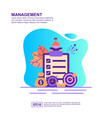 concept management modern conceptual for vector image vector image