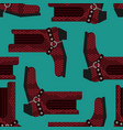 cowboy boots pattern australian shoes background vector image