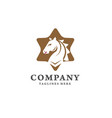 creative horse and star logo concept vector image vector image